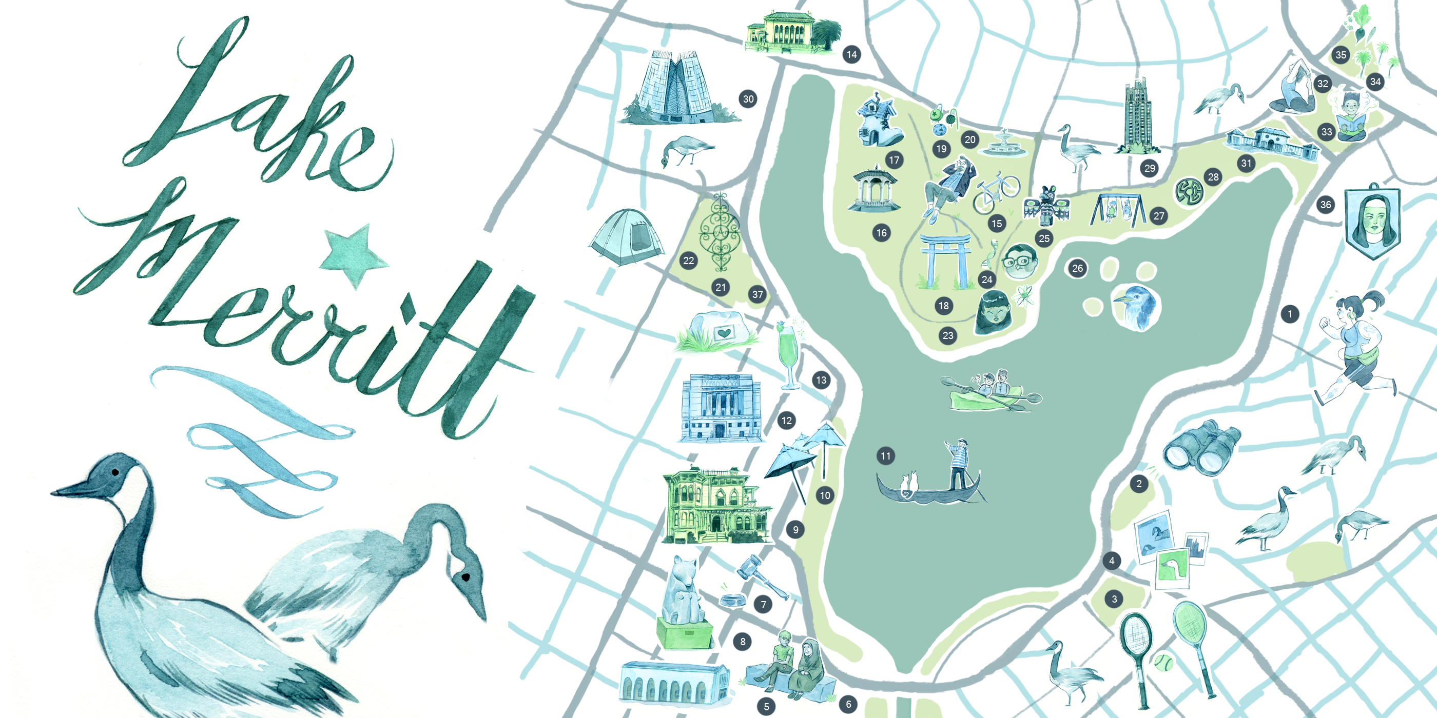 An Illustrated Guide to Lake Merritt – The Bold Italic