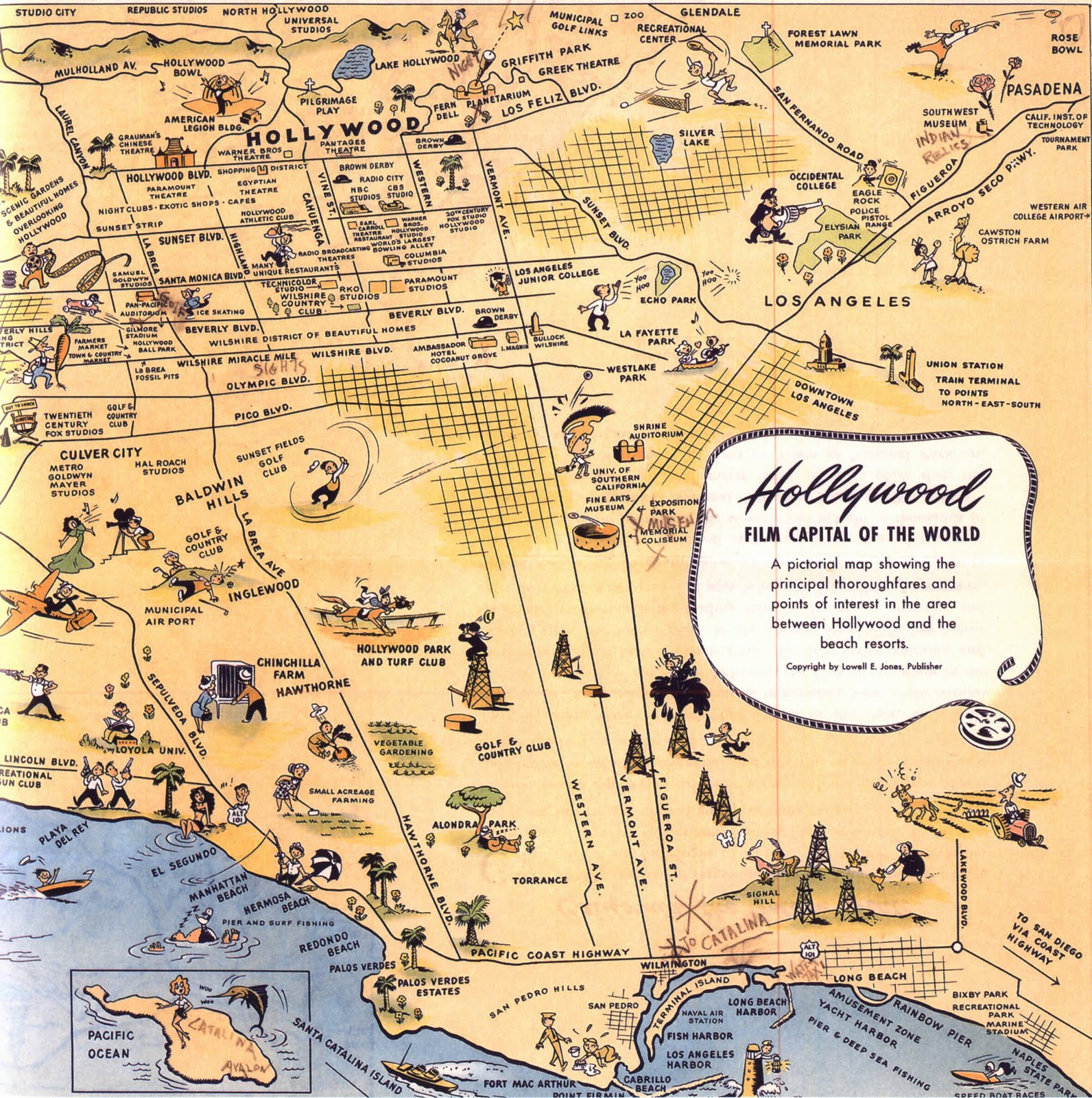 Unusual Maps Of Los Angeles  The Bold Italic  San Francisco - Los angeles in map