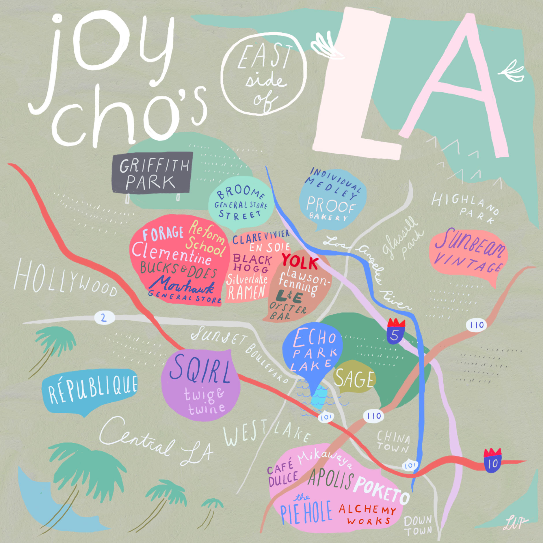 Unusual Maps Of Los Angeles  The Bold Italic  San Francisco - Los angeles map by neighborhood